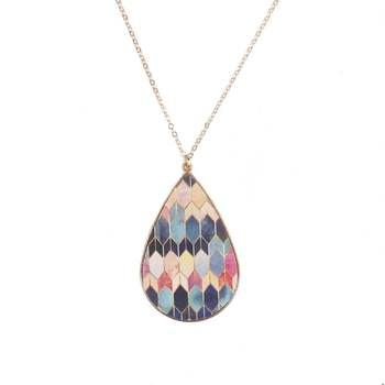 Baroque Moroccan Waterdrop Pendant Necklace for Women Paisley Pattern Alloy Pendant Necklace Long Sweater Necklace 2
