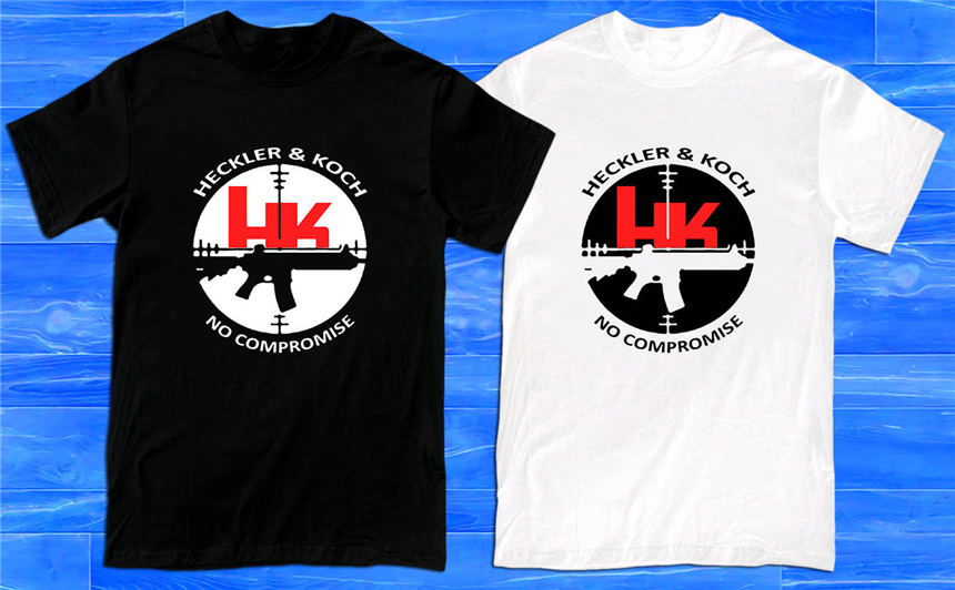 <font><b>Hk</b></font> Logo Heckler & Koch Firearms Men'S <font><b>T</b></font>-<font><b>Shirt</b></font> Size S To 2Xl For Youth Middle-Age The Elder Tee <font><b>Shirt</b></font> image