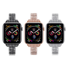 3pcs Jewelry Bracelet for Apple Watch SE Band 38mm 40mm 42mm 44mm Series 6 5 4 3 Wristband Bling Watchband for iWatch , Fran 10P