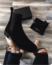 Bottines de haute qualité pour hommes, chaussures classiques de style Chelsea, nouvelle collection hiver 2020, tailles 38 à 48 HA099