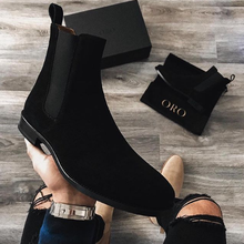 Men's Shoes New for 2020 High Quality Men Ankle Boot Male Vinage Classic Dress Chelsea Winter Zipper Boot Size Shoes 38-48 HA099