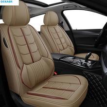 цена на Front+rear leather car seat covers for Honda all model URV CRV CIVIC fit accord city XRV HRV jazz vezel Insight Spirior styling