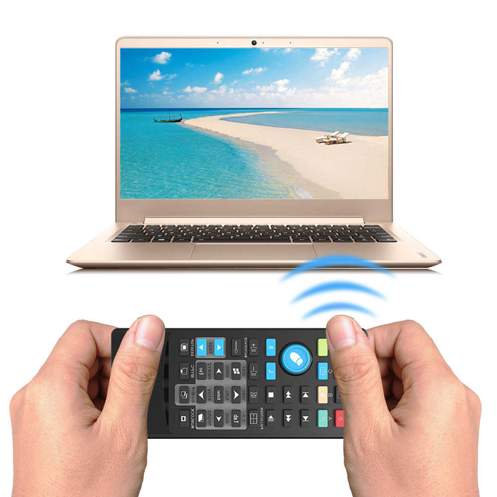 Wireless Keyboard Mouse Remote Kontrol IR Penerima USB untuk Laptop PC Komputer Slim dan Portable PC Remote Controller