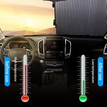Przednia szyba samochodu kurtyna chowany zestaw składana osłona przeciwsłoneczna do samochodu pokrywa folia odblaskowa zasłony anty-uv 45cm osłony przeciwsłoneczne do samochodu tanie tanio CN (pochodzenie) Aluminum foil Car sun shade sunshield curtain 150-200cm Front window 80 70 65cm Rear window 46cm