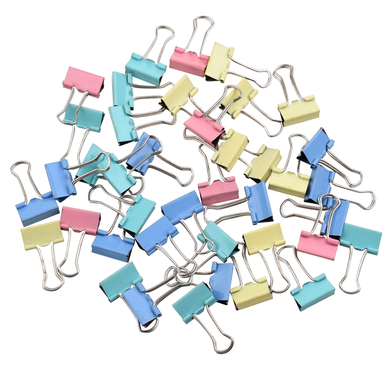 40pcs 19mm Colored Binder Clips Home Office School Teacher