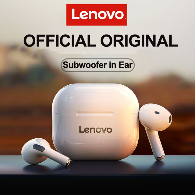 NEW Original Lenovo LP40 TWS Wireless Earphone Bluetooth 5.0 Dual Stereo Noise Reduction Bass Touch Control Long Standby 300mAH 1
