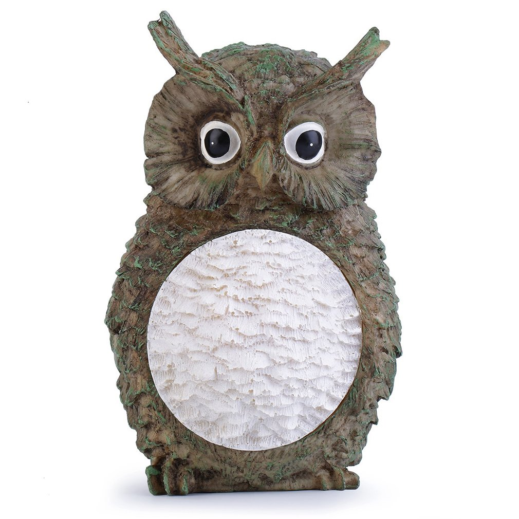Solar Owl LED Light Garden Statue Lamp Weather Resistant Home Yard Decor Solar Power Outdoor Light Portable Solar Lamps