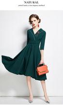 Женское офисное платье трапеция zuoman Элегантное Длинное Платье