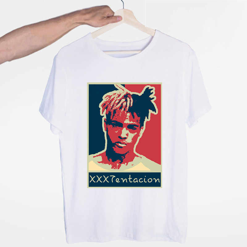 남자 xxxtentacion t 셔츠 남자 여름 고품질 t-셔츠 캐주얼 화이트 o-넥 tshirt 남성 남자 또는 여자 상위 티