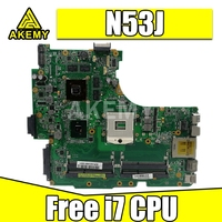 Free i7 CPU for ASUS Laptop Motherboard N53J N53JF N53JN N53JL N53JG HM55 W/ GT425M 1G 4* RAM Slots Mainboard fully tested work