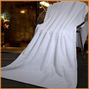 5 gwiazdek Hotel białe ręczniki 1M * 2M Super duże Spa łazienka Sexy poręczny prysznic plaża basen miękka bawełniana ręcznik mapa
