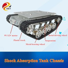 DOIT TS100 Metal Shock Absorber Robot Tank Chassis Tracked vehicle track car crawler caterpillar for Arduino diy rc toy teach doit wireless handle joystick control kit for robot crawler tank car chassis with arduino ir obstacle avoidance diy rc toy
