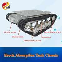 DOIT TS100 Metall Rc Roboter Tank Auto Chassis Schock Absorption Auto Mit Suspension System Crawler Raupe für Arduino DIY Spielzeug