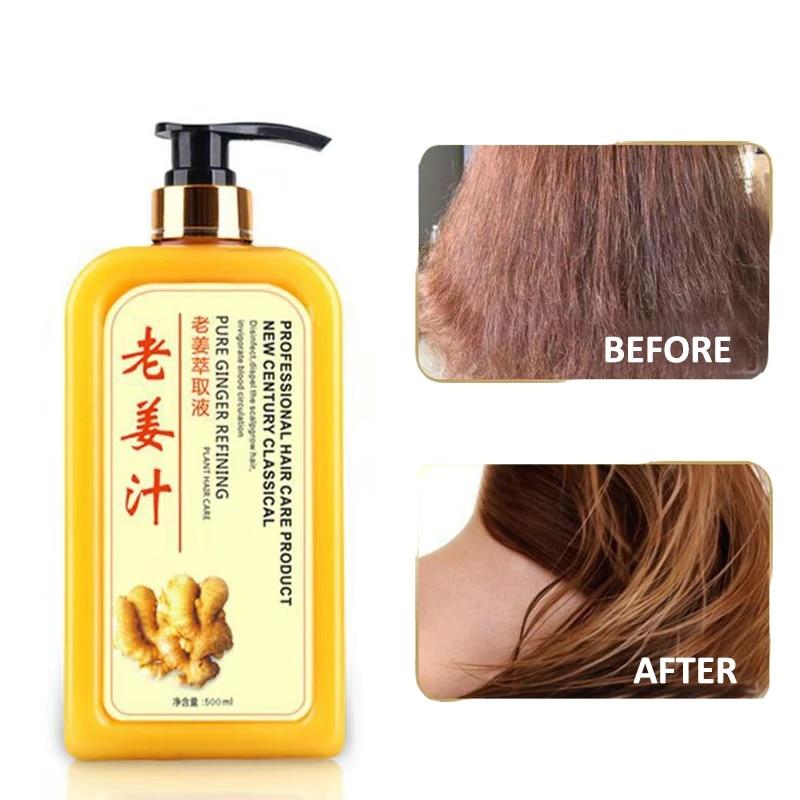 Old Ginger Shampoo Hair Care Professional Hair Scalp Treatment Healthy Hair Growth Smoothing Anti Hair Loss Anti Dandruff 500ml Ginger Shampoo Old Gingershampoo Hair Aliexpress