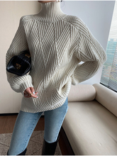 Sweater women 2020 new winter oversize cashmere Top high neck thick knitted pullover Solid color plus size warmth hot sale