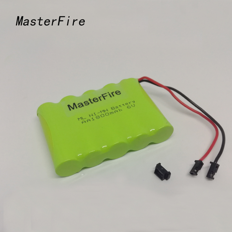 MasterFire Original 6V AA 1800mah NiMH Battery For Rc toys Cars Tanks Robots Boats Truck Guns Rechargeable 6V AA Batteries Pack image