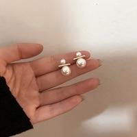 MENGJIQIAO Design de mode élégant simulé perle boule boucles d'oreilles pour les femmes coréen mignon mariage Boucle D'oreille bijoux