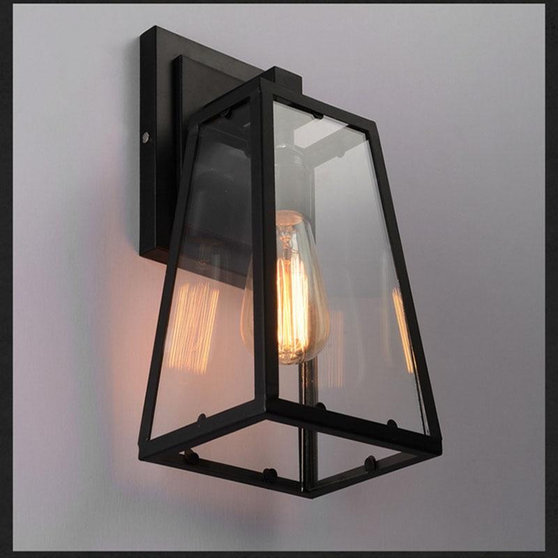 ar livre ferro preto vidro luminaria varanda
