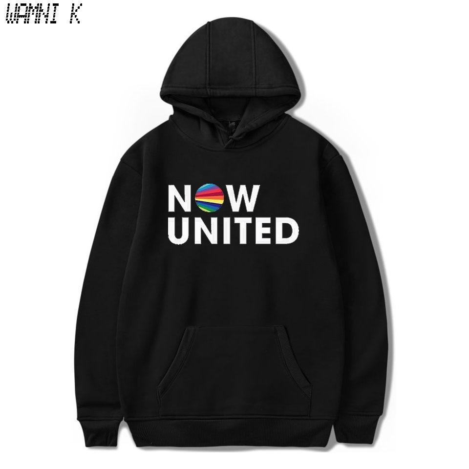 WAMNI 2020 Now United - Better Album Hoodie Sweatshirts Men Women Better Now United Lyrics Pullover Unisex Harajuku Tracksui
