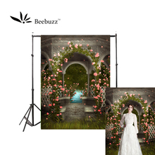 Beebuzz photo backdrop green courtyard backgroung garden style background personal photophone