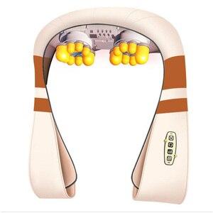 Image 3 - U 形電気指圧肩マッサージ多機能ショール赤外線加熱混練カー/ホームマッサージ