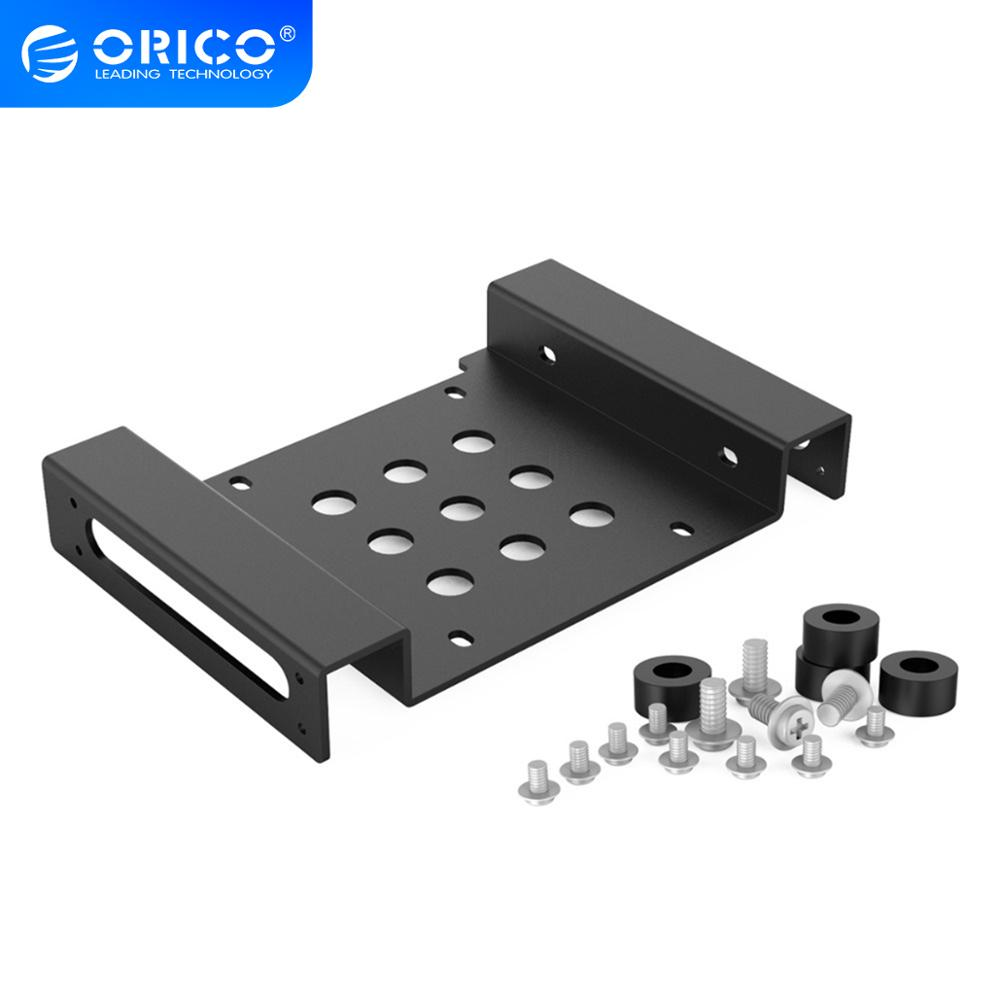 ORICO Aluminum <font><b>5.25</b></font> inch <font><b>to</b></font> 2.5 or <font><b>3.5</b></font> inch Hard Drive HDD SSD Converter Adapter Mounting Bracket with Screws Hard Drive Caddy image