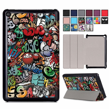 Magnetic Case for Amazon New Fire 7 2019 Release 9th Generation 7inch Tablet PU Leather Stand Cover for Kindle Fire 7 2019 Case for fire7 2019 armor case 7 0 inch tablet hand held strap silicone tpu pc shockproof stand cover case for amazon kindle fire 7 2019