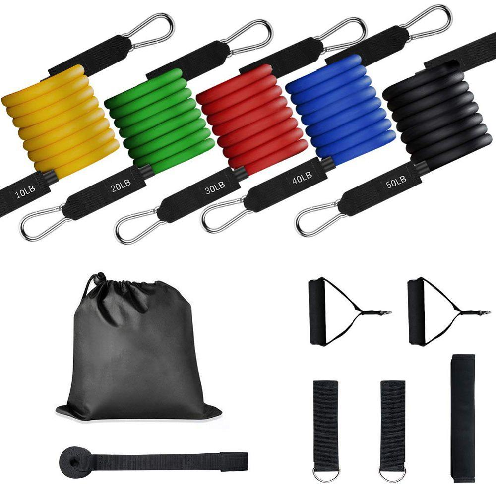 11 Pc Resistance Band Crossfit Fitness Elastic Sports Musculation Chest Exercise Elastic Bands Fitness Work Out Gym Equipment