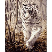 DIY Hand Painted Canvas Oil Paintings Modern Pictures Animal Tiger Painting On Handmade Wall Art