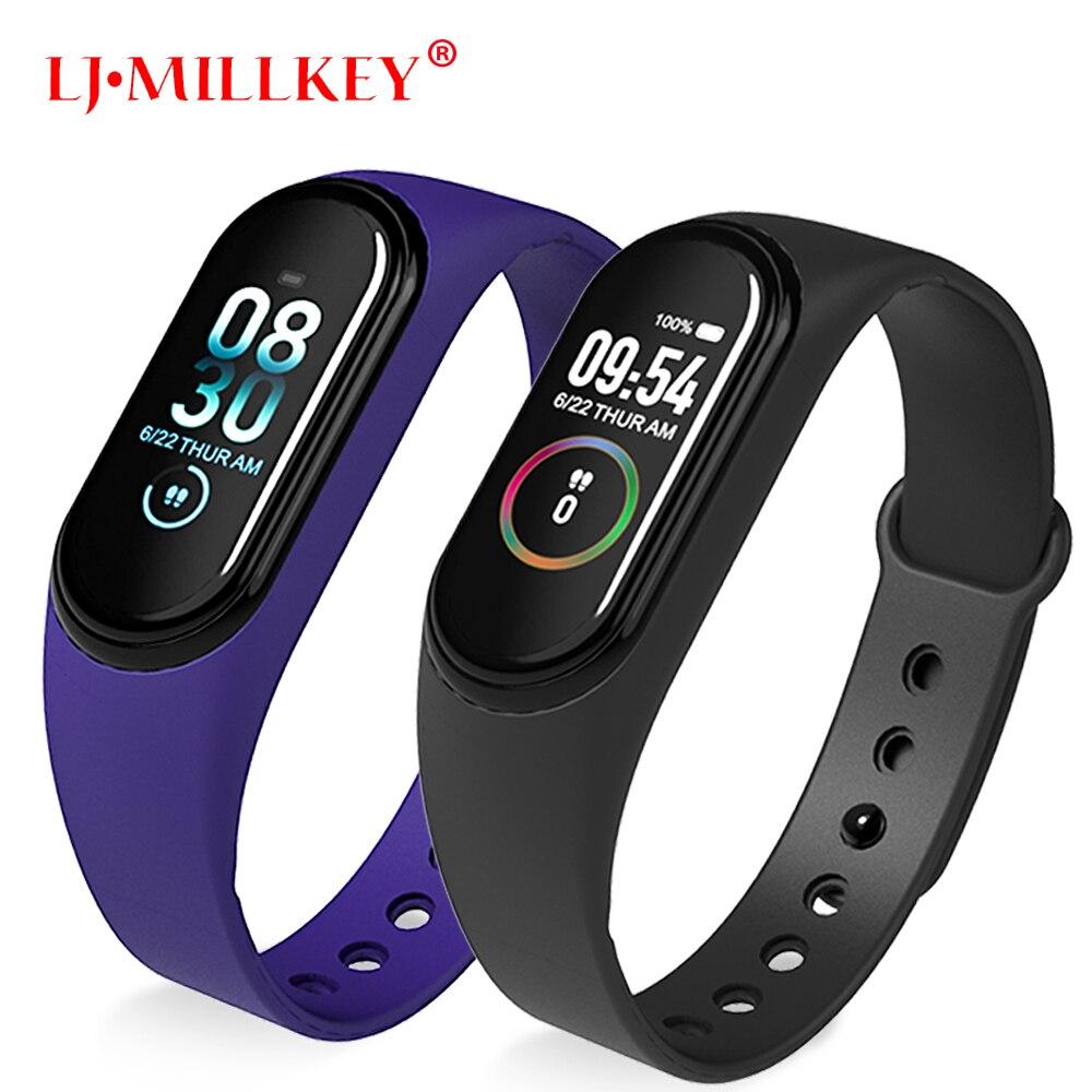 M4 Color IPS Screen Smart Sport Fitness Bracelet Blood Pressure Oxygen Activity Tracker For Men Women watches