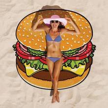 Полиэфирный пляжный гобелен, коврик для пикника с фруктовым принтом гамбургера, пляжное одеяло для походов на открытом воздухе, туристический коврик для кемпинга, Feminina