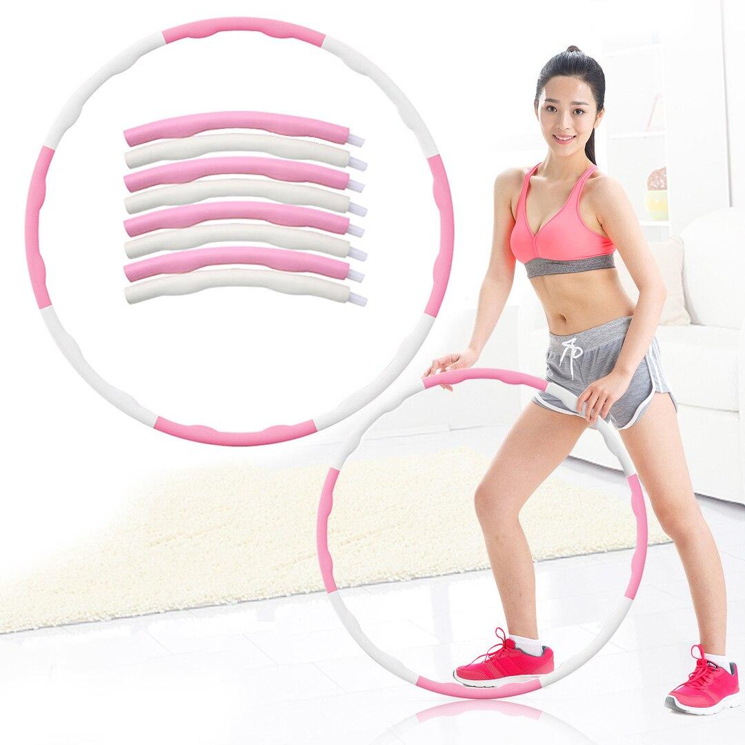 Abdominal Massage Sports Circle Detachable Foam Ring Adult Gymnastics Circle Hoop Fitness Thin Waist Weight Loss Ring Equipment