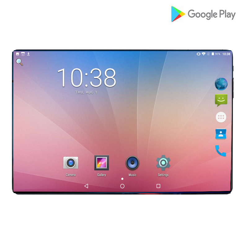 2019 New 2.5D 10 Inch Android 9.0 Tablet PC 1280x800 Octa Core 6GB RAM 128GB ROM 8.0MP Dual SIM Card 4G Phone Call Video Tablets