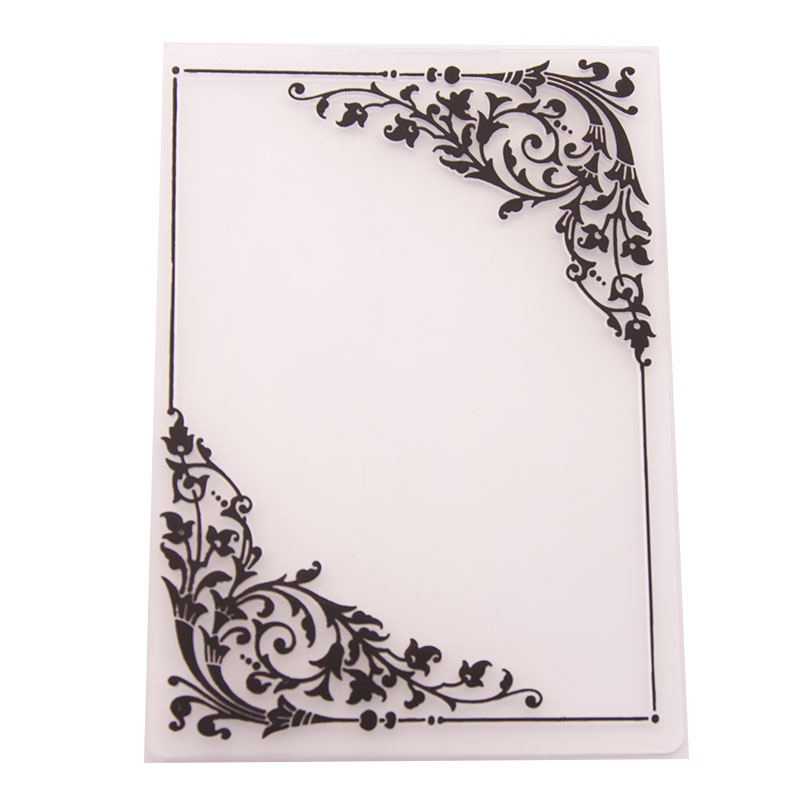 YINISE Plastic Embossing Folder For Scrapbook Stencils LEAVES DIY Photo Album Cards Making Decoration Scrapbooking Tools MOLD