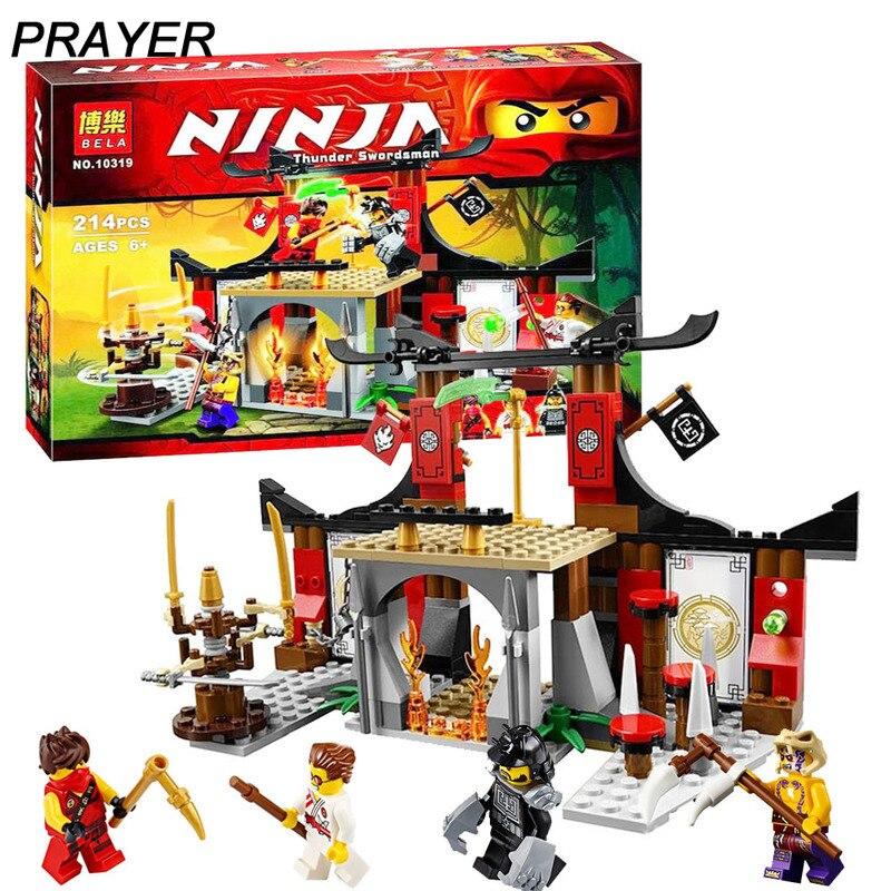214pcs Compatible With Lepining  10319 Ninjagoes Dojo Showdown Building Blocks Set  70756 Toy For Kids Bricks