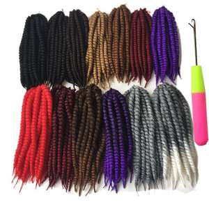 Hair-Extensions Braiding Crochet Twist Havana Mambo 13colors Synthetic 12strands/Pack
