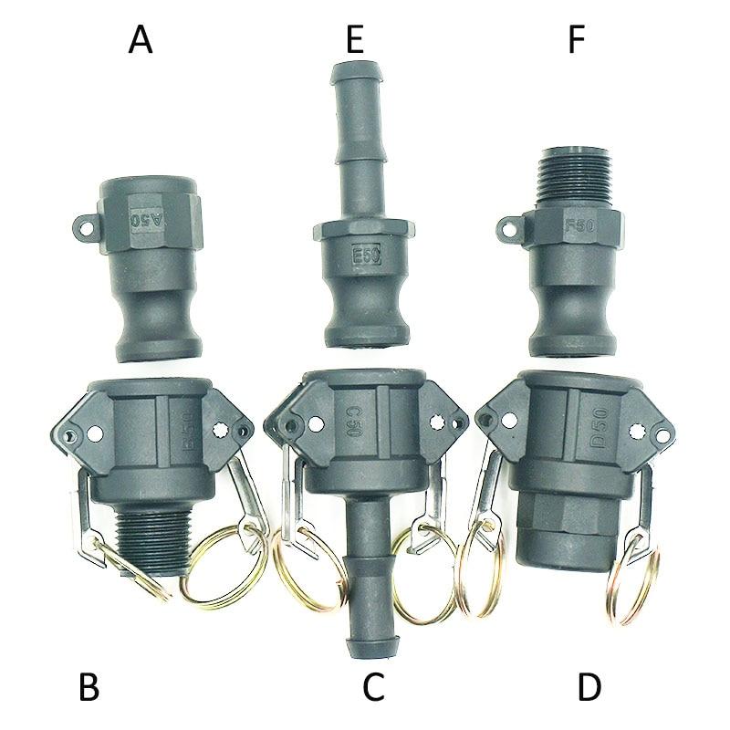 Plastic Camlock Couplings  1/2