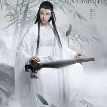 Costume de Cosplay de la série TV Mo Dao Zu Shi, le Lan Zhan/Lan Wangji, ensemble complet de Costumes anciens chinois Hanfu pour noël