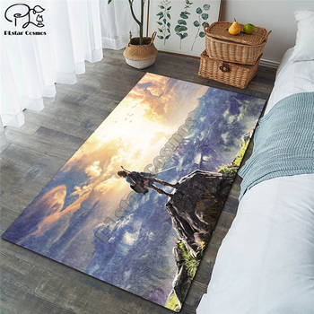 Anime carpet kids room soccer rug field parlor bedroom living room floor mats children large rugs home mat 1