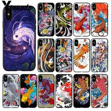 Yinuoda Japanese Japan Tattoo Koi Fish art Customer Phone Case for Apple iPhone 8 7 6 6S Plus X XS MAX 5 5S SE XR Mobile Cover(China)