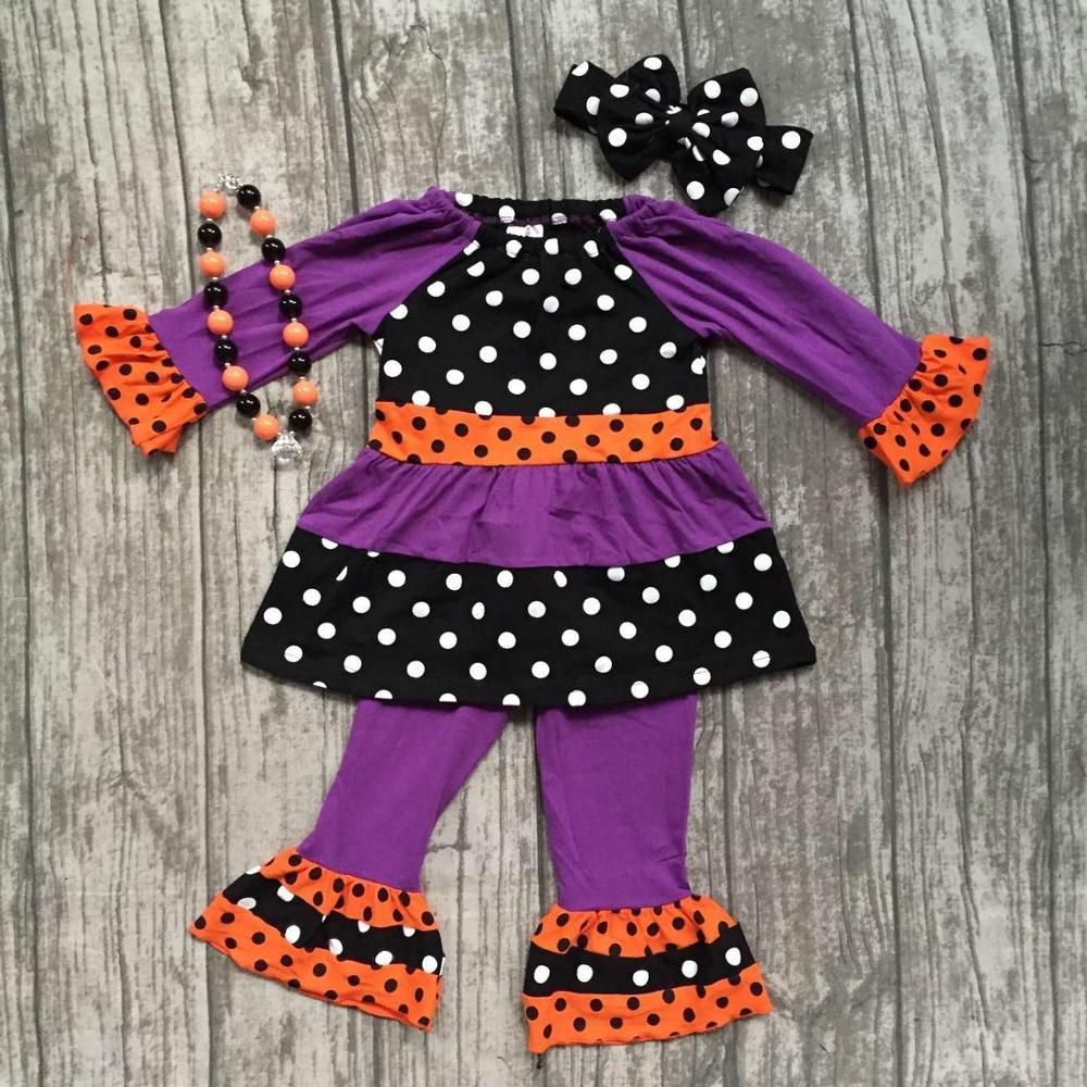 Girlymax special offer baby girls fall/winter Halloween children clothes cotton set match accessories 3