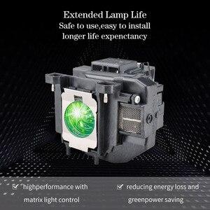 Image 4 - Pour Epson lampe de Projecteur pour ELPLP67 V13H010L67 EB X02 EB S02 EB W02 EB W12 EB X12 EB S12 S12 EB X11 EB X14 EB W16 eb s11 H432B
