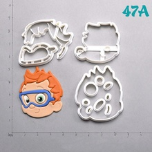 Cartoon Tv Bubble Guppies Series Cookie Cutter Custom Made 3D Printed Fondant Set