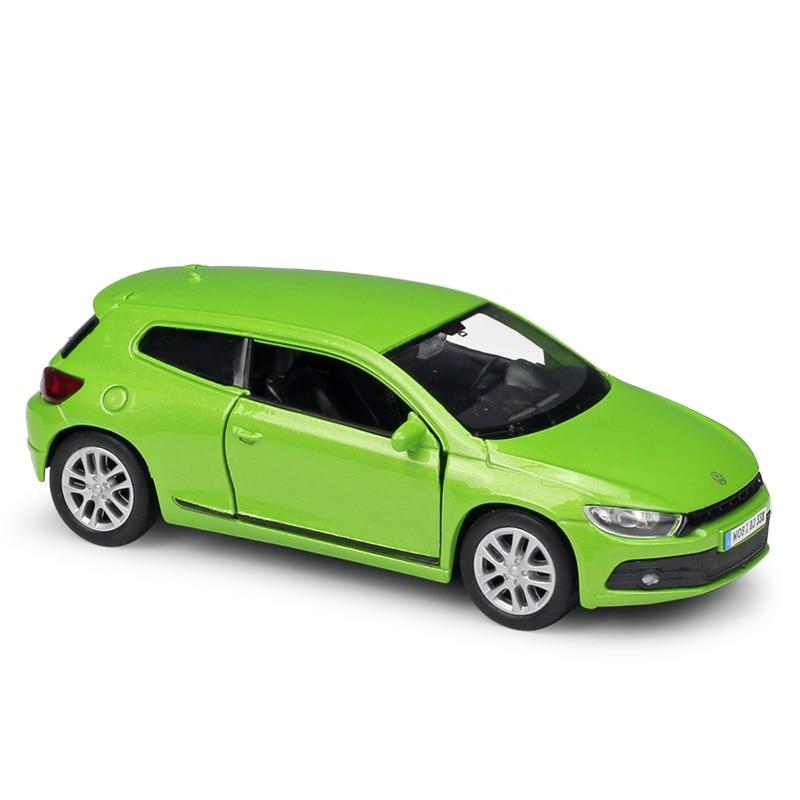 1:36 Welly Volkswagen Scirocco Green Die-cast Model Car
