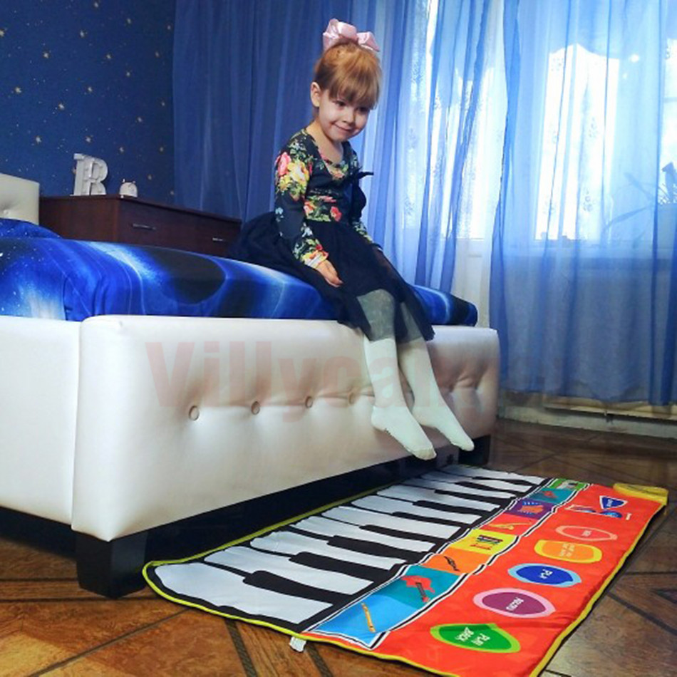 H27aa44fbe7d248dcbb841744ca47369e3 Large Size Musical Mat Baby Play Piano Mat Keyboard Toy Music Instrument Game Carpet Music Toys Educational Toys for Kid Gifts