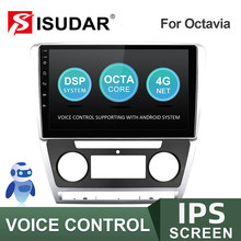 Isudar v57s rádio do carro para skoda octavia a5 2009 2010 2011 2012 2013 2 din android autoradio multimídia gps câmera ram 2g rom 32g
