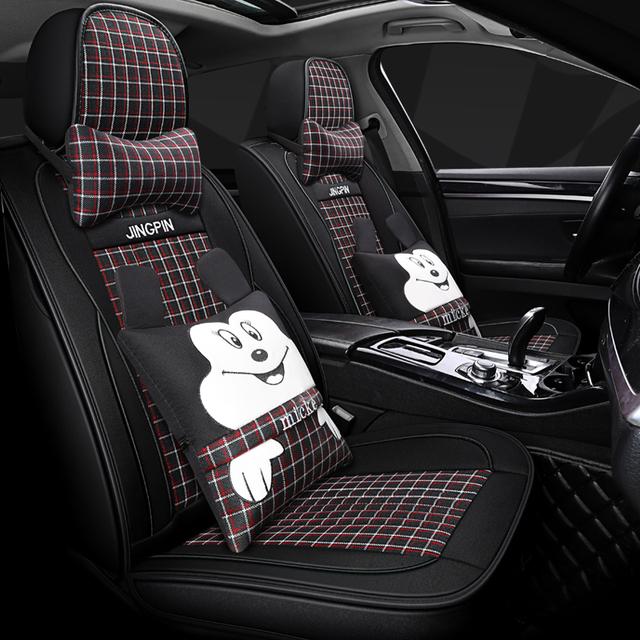 Full Coverage, flax fiber car seat covers for ford explorer, figo focus, mk1 mk2 mk3 fusion, kuga mk2