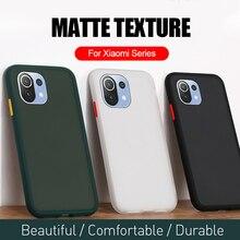 עור מרגיש רך סיליקון פגוש קשיח מחשב מט בחזרה מקרה עבור Xiaomi Mi11 Coque Fundas על Xiomi לי שלי Mi 11 Lite 11 לייט אור פגז