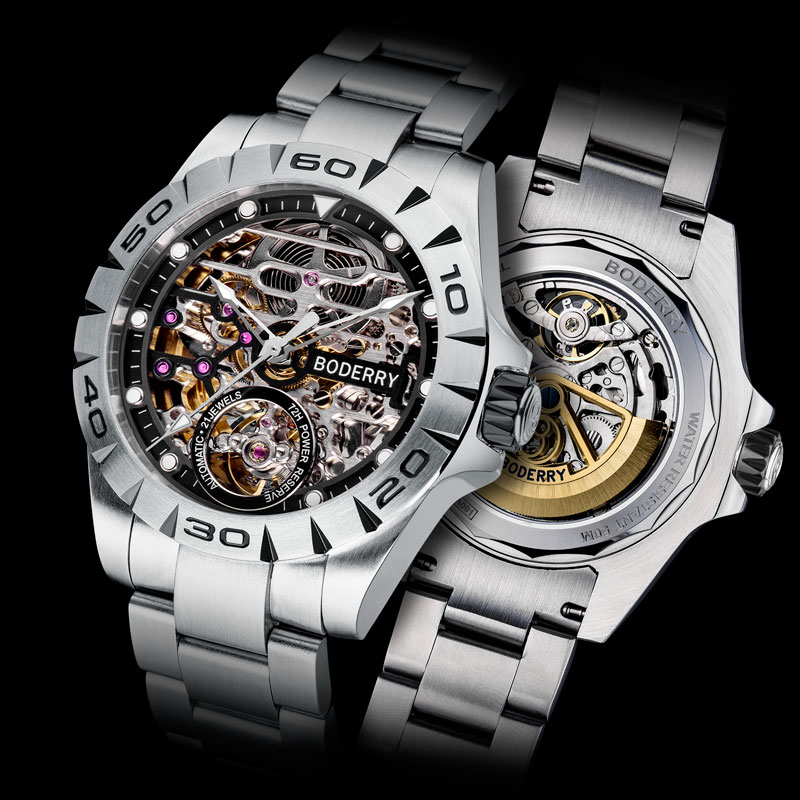 Top Brand Luxury Men's Watches Automatic Mechanical Luminous Waterproof Stainless Steel Watch Men Male Clock Relogio Masculino