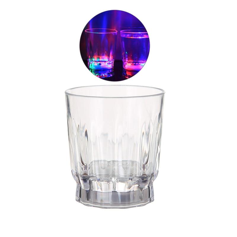 1PC/4PCS Mini Fashion Colorful Led Light Flashing Shot Glass Led Luminous Cup Neon Cup For Party Bars KTV Home Decor